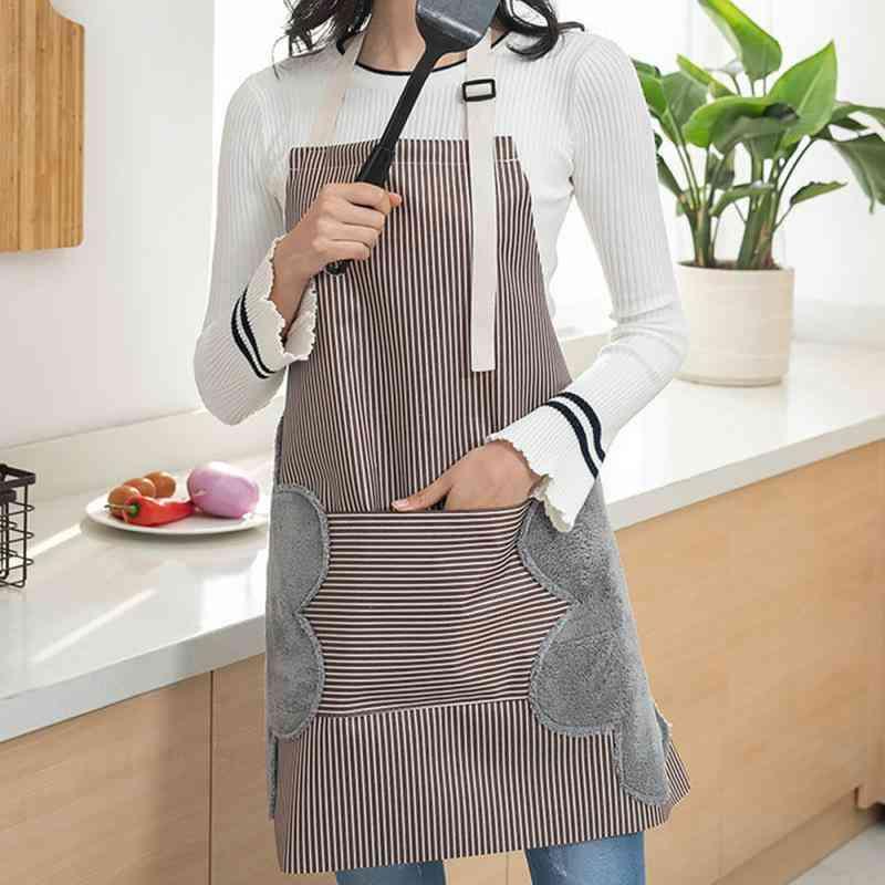 Waterproof Adjustable Buckle-apron With Side Wipe