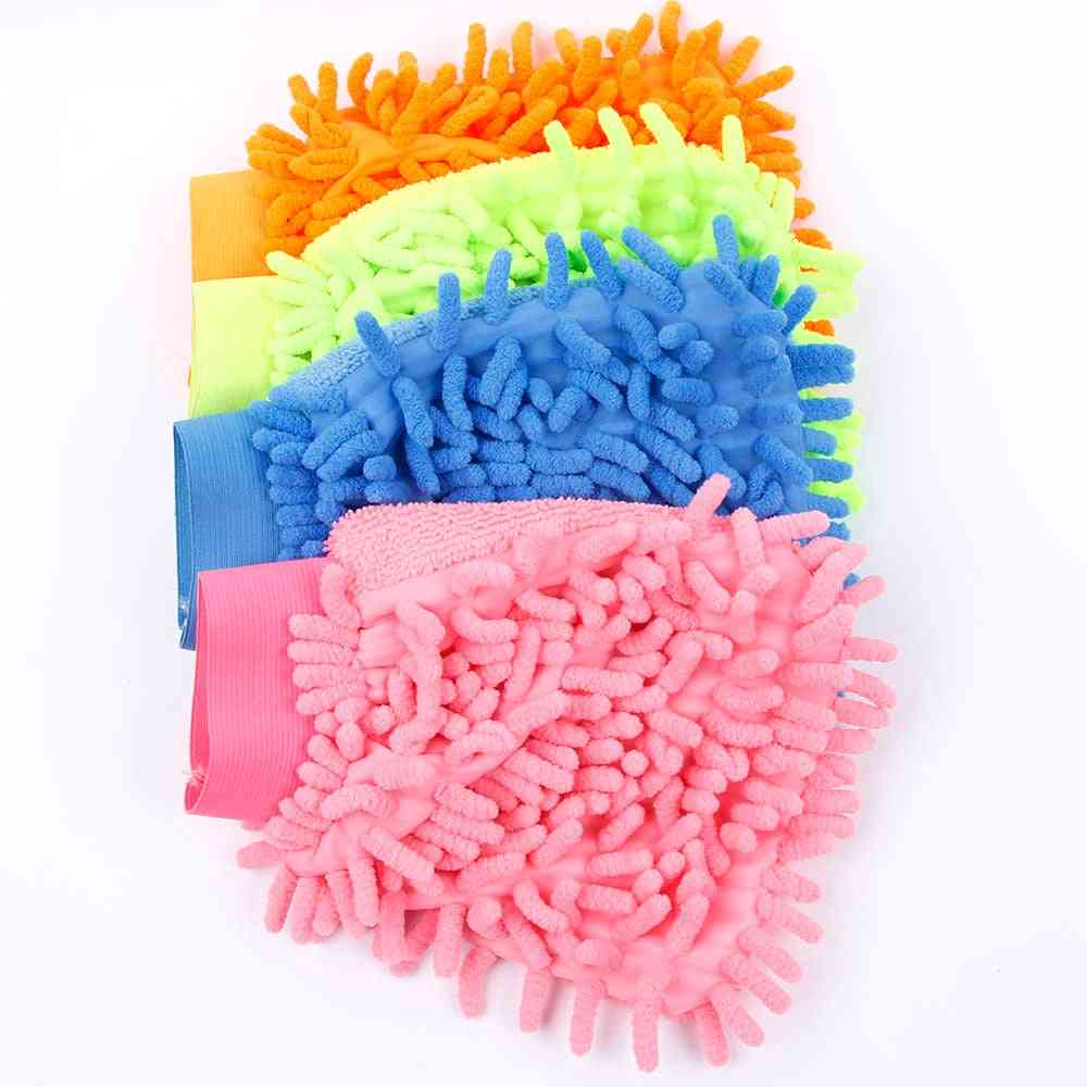 Super Mitt Microfiber Car Window Washing Home Cleaning Cloth Duster /towel Gloves