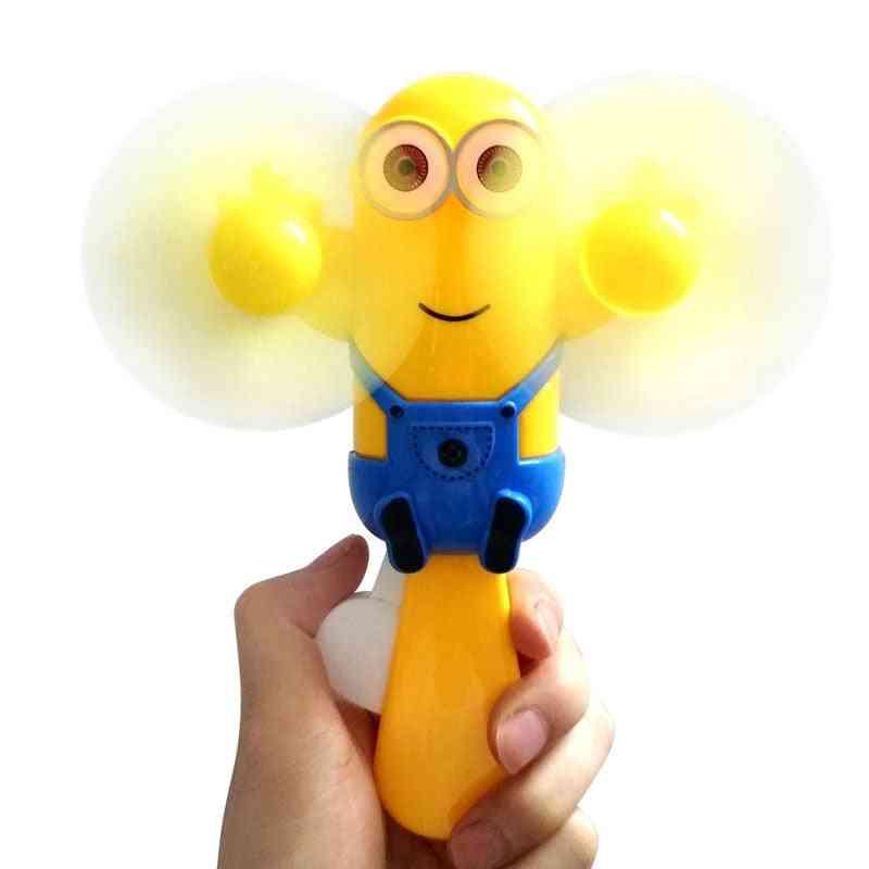Small Handheld Mini Hand Fan Plastic Manual Shaking Cartoon Portable Kids Toy