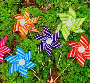 Hexagonal Windmill Colorful's Creative Diy Article Plastic Toy