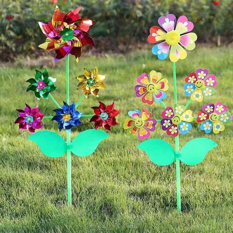 Wheel Cartoon Windmill Whirligig Wind Spinner Pinwheel Yard Garden Decoration