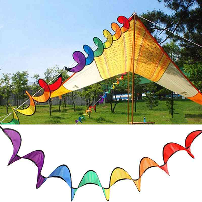 Foldable Rainbow Spiral Windmill Tent Colorful Beautiful Spinner Garden Home Decoration Outdoor Camping