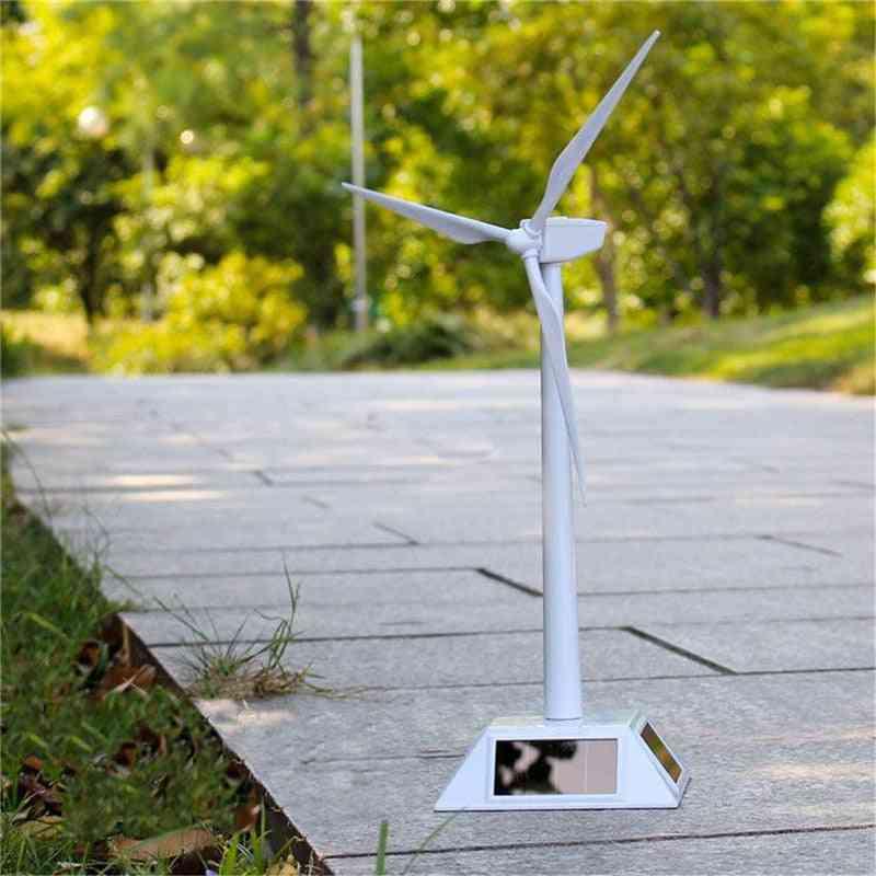 Environmental Plastic Model-solar Powered Windmill Wind Turbine Desktop Science Toy Assembled