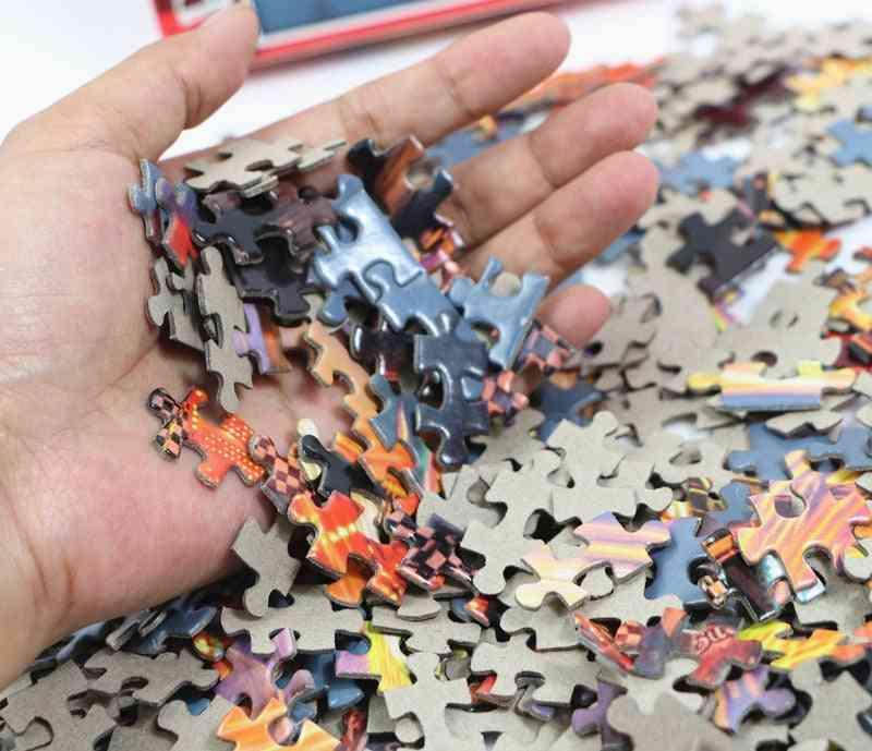 Assembling Picture Landscape Puzzle Game Educational