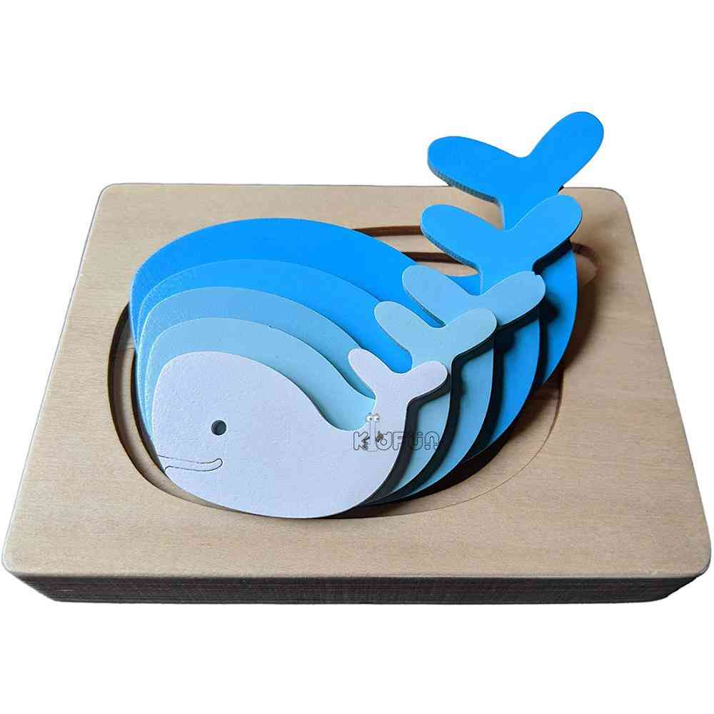 Puzzles Whale Elephant Cartoon Bbay Montessori Educational Toy