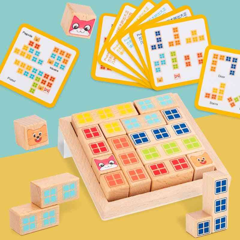 Wooden Early Learning, Education Intelligence Building Block Toy