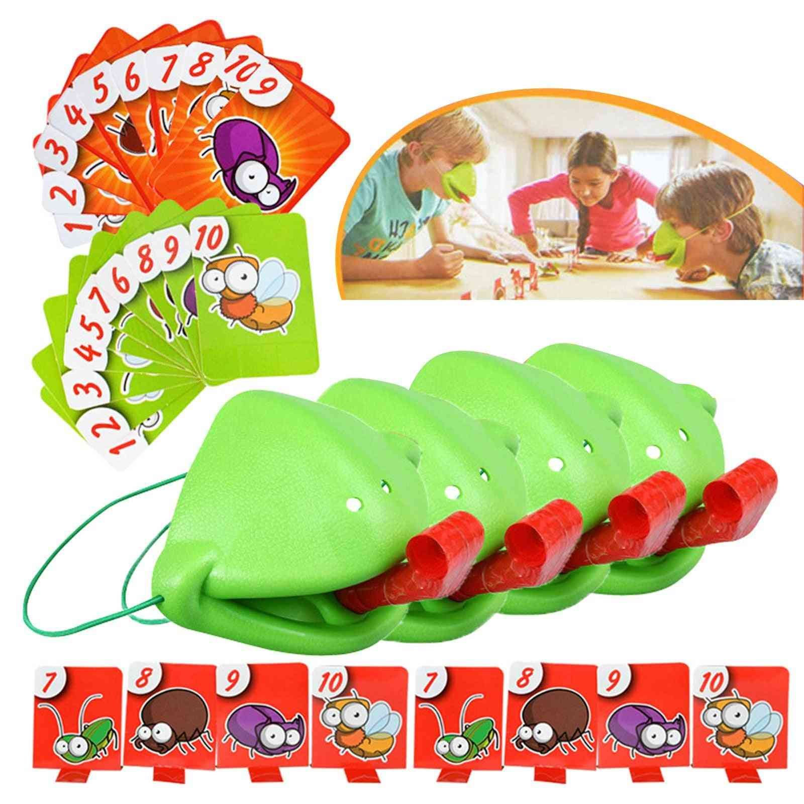 Tongue Chameleon Frog Mouth Take Card Tongue Toy