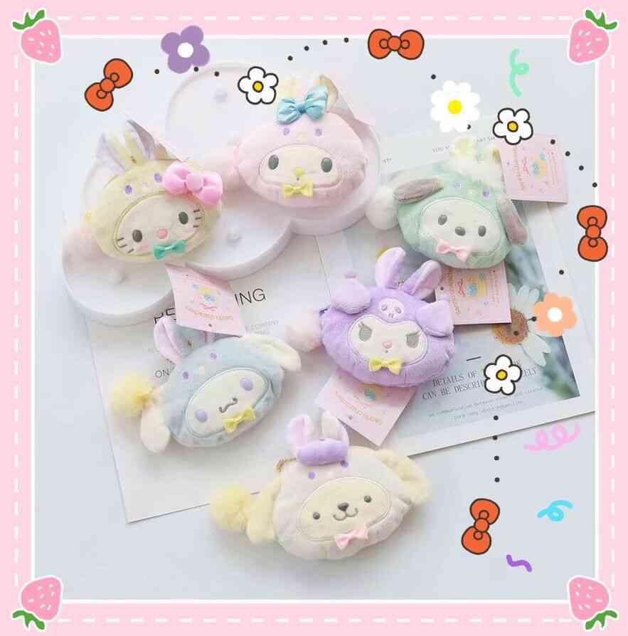 Rabbit Melody Doll Plush Purse, Cartoon Big Ear Dog Toy Bag
