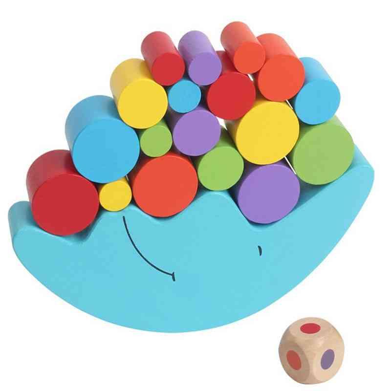 Moon Balance Beam Game Wooden Building Blocks Educational Toy
