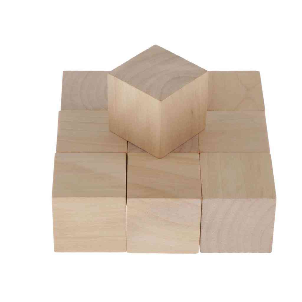 Wooden Cubes, Unfinished Birch Cube