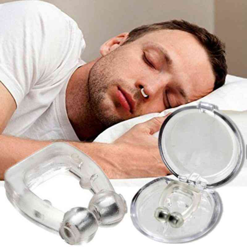 Magnetic Anti Snoring Nasal Dilator Stop Snore Nose Clip Device