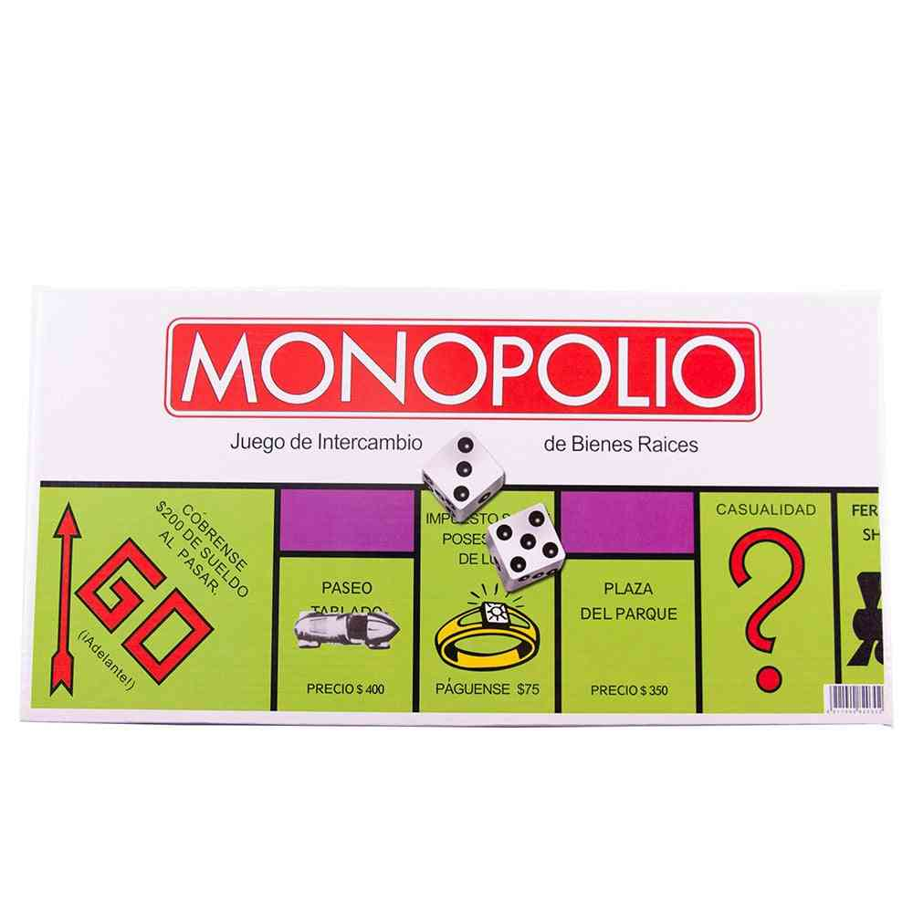 Family Party Classic Spanish Monopoly Game Board