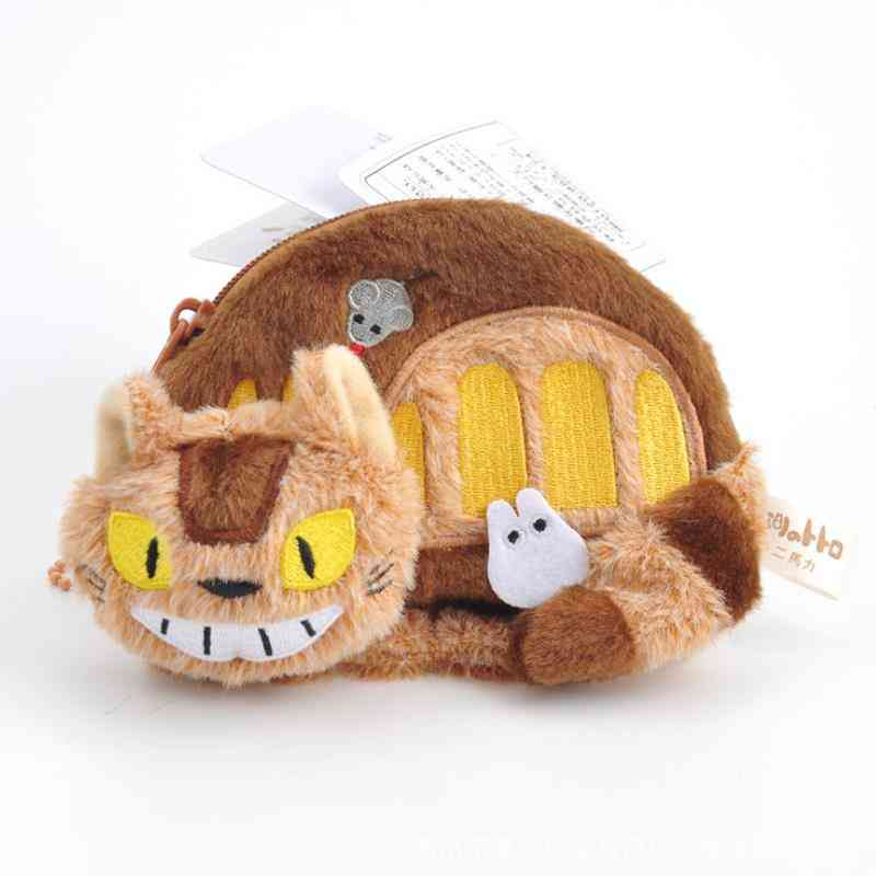Cat Bus Coin Purse Unisex Wallet Multi-functional Kawaii Bag Anime Plush