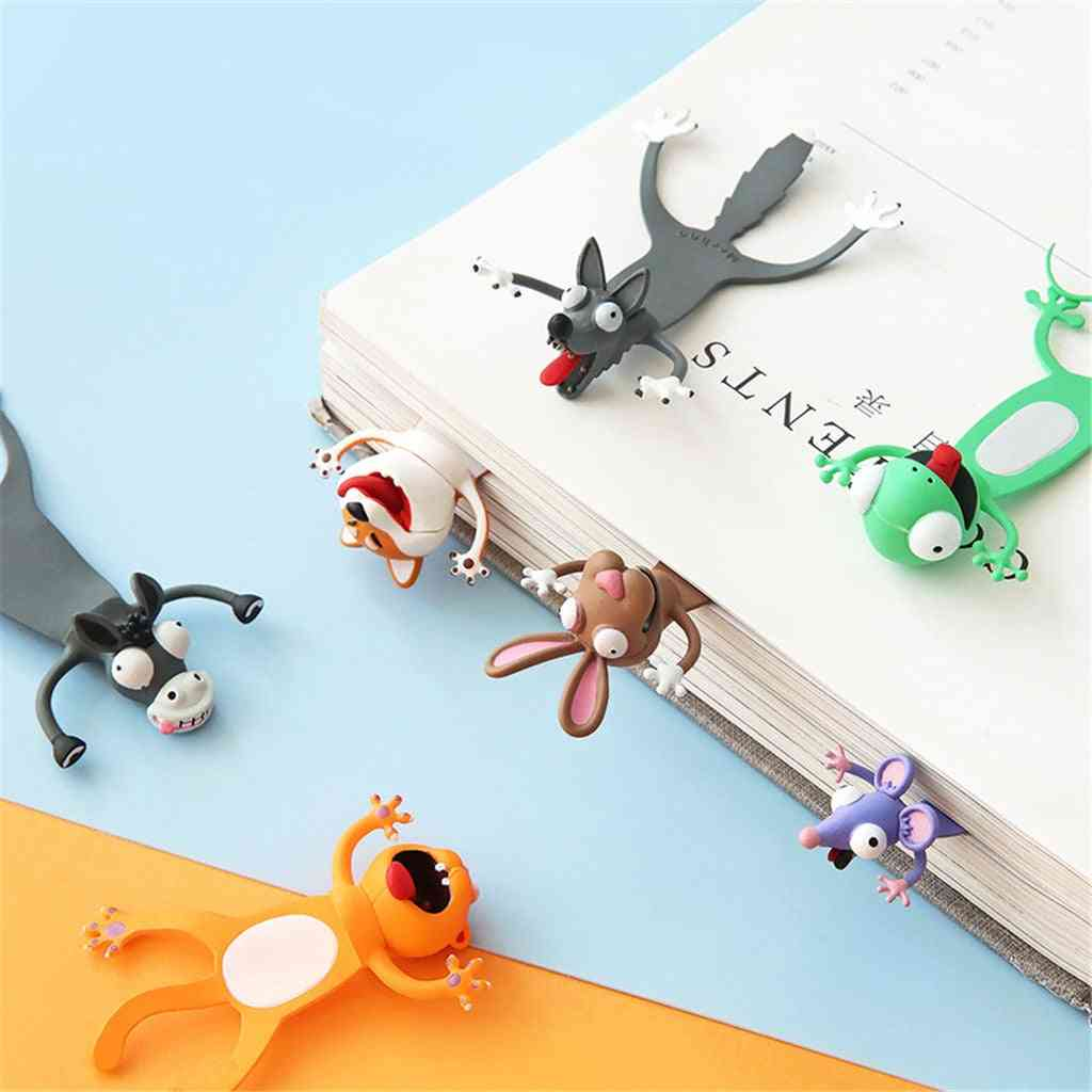 Creative 3d Stereo Bookmark Cute Cartoon Animal Marker
