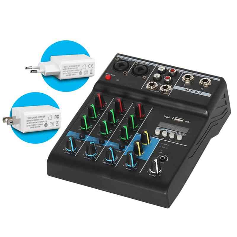 Professional Audio Mixer Channels, Bluetooth Sound Mixing Console With Usb Card Effects
