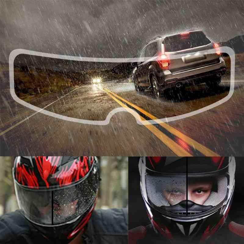 Universal Motorcycle Helmet Clear Rainproof Film