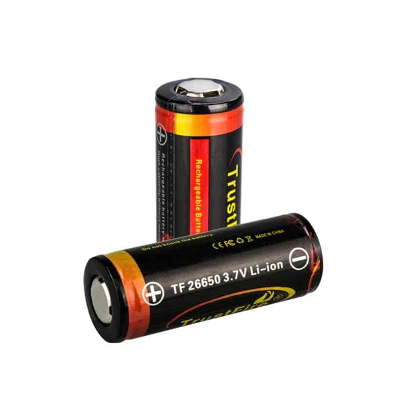 1pc 26650 5000mah Li-ion 3.7v Rechargeable Battery