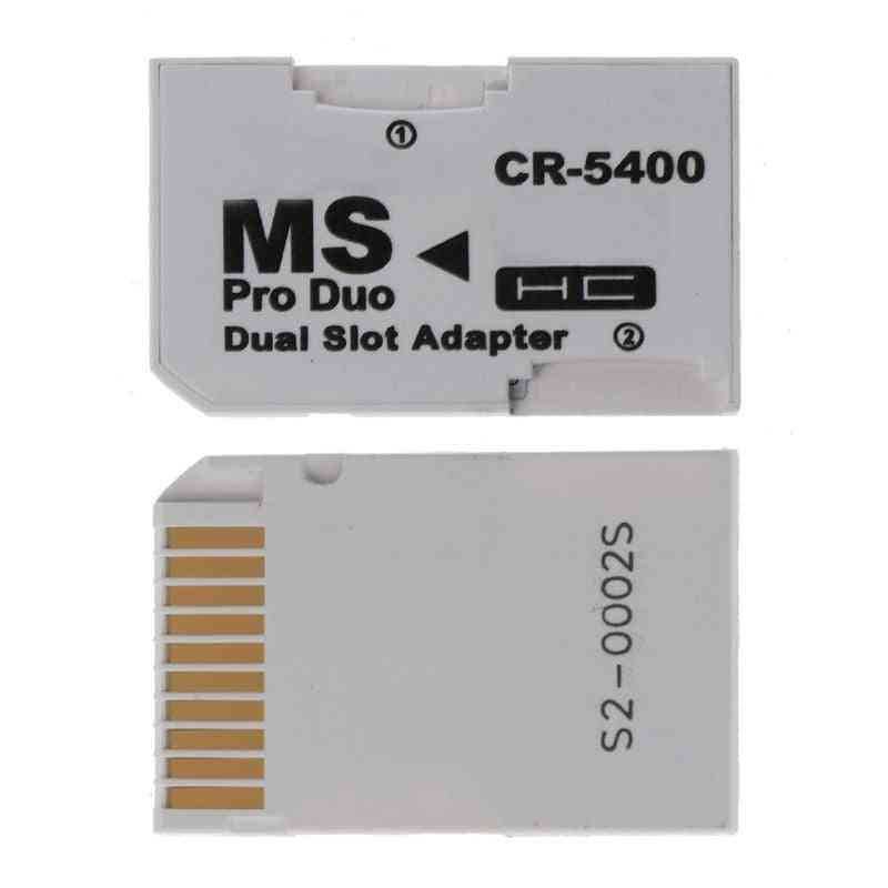 Micro Sd Tf To Memory Stick Ms Pro Duo For Psp Card Dual 2 Slot Adapter