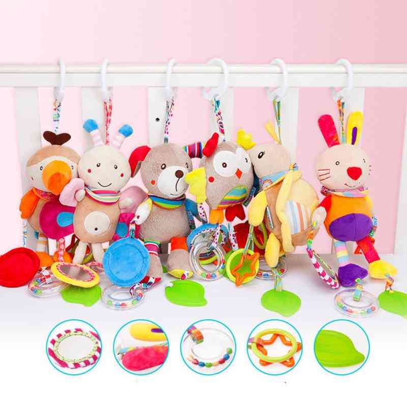 Cartoon Animal Mobile Infant Rattle Baby Toy