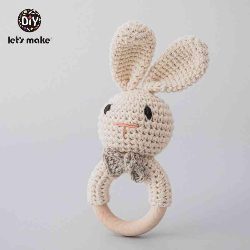 Baby Mobile Pram Crib Ring Wooden