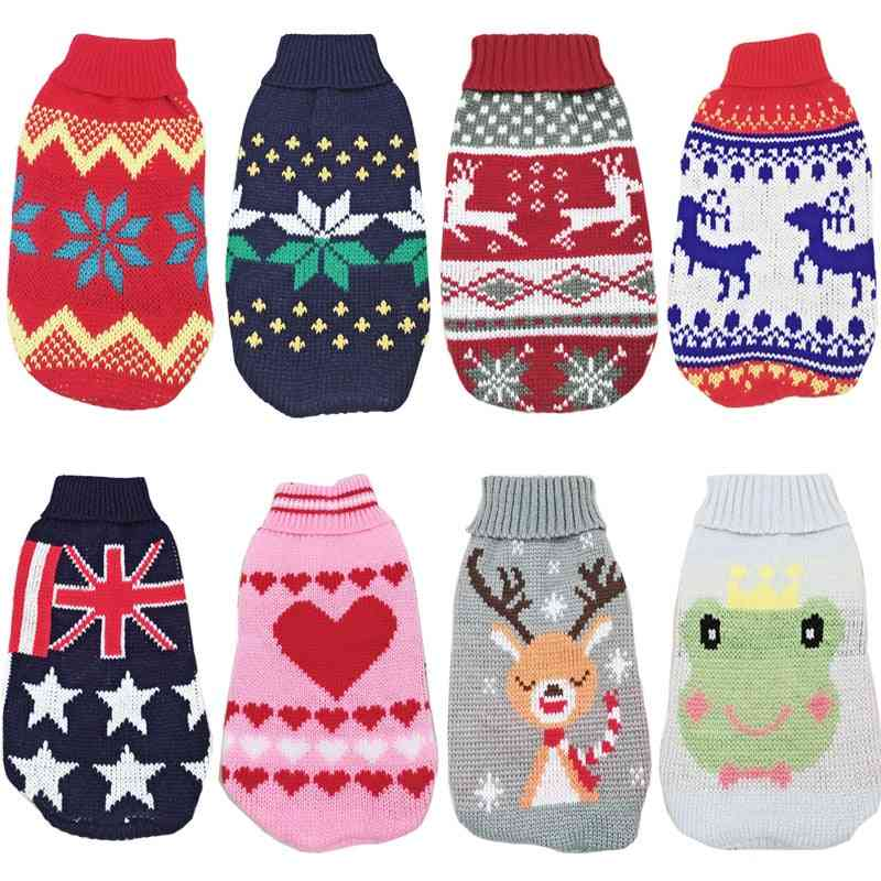 Christmas Cat / Dog Sweater Pullover Winter Clothes
