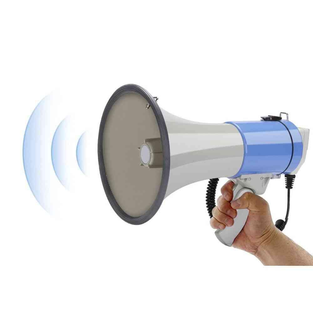 50w Outdoor Handheld Megaphone Speaker Booth High Power Recordable Loudspeaker