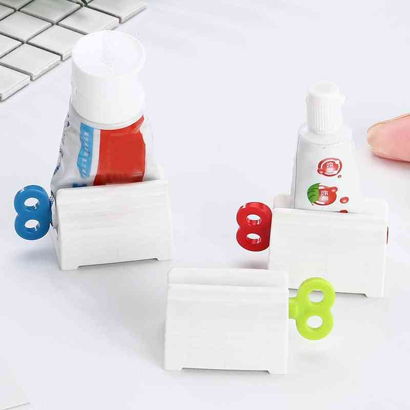 Home Plastic Toothpaste Tube Squeezer Easy Dispenser Rolling Holder Bathroom Supply Tooth Cleaning