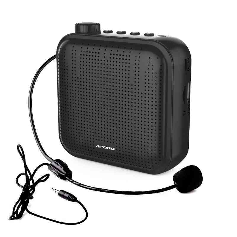 New 12w Wearable Megaphone 1200 Mah Portable Voice Amplifier For Teaching, Tourist Guide