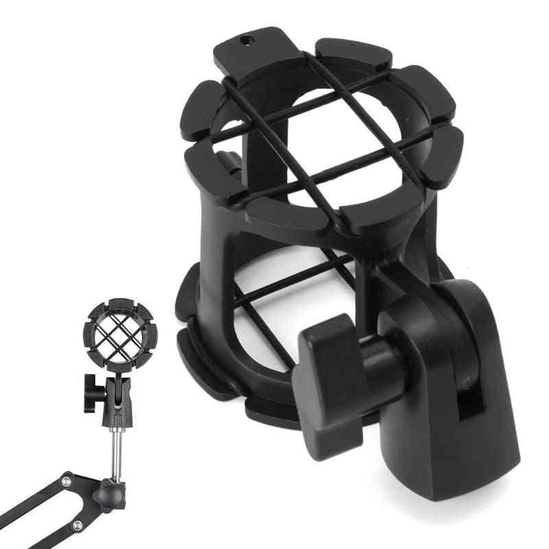 Bearable Handheld Condenser Microphone Shock Mount Clip, Mic Holder Stand, Professional Studio Recording Bracket