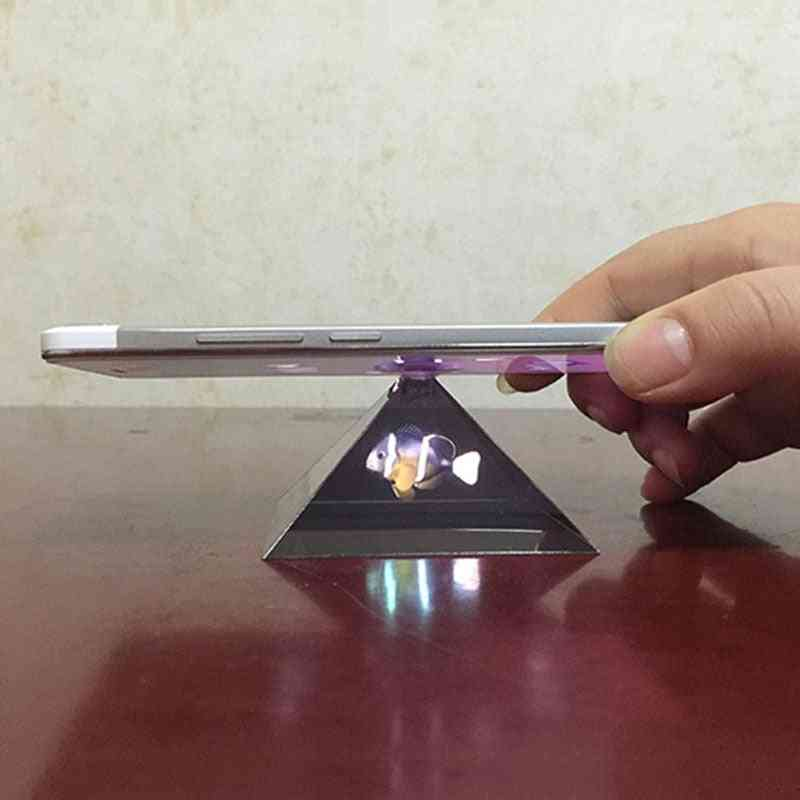 Hologram Pyramid Display Projector Video Stand For Smart Mobile Phone
