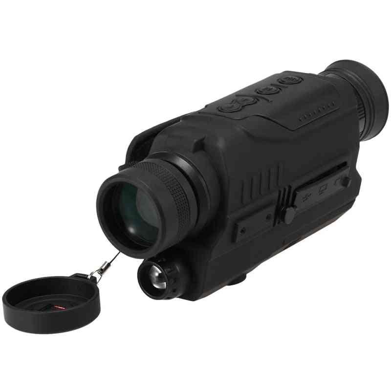 Night-vision Monocular With 200m Full Dark Distance Camera Video Replay Menu Modes 8gb Tf Card (black)