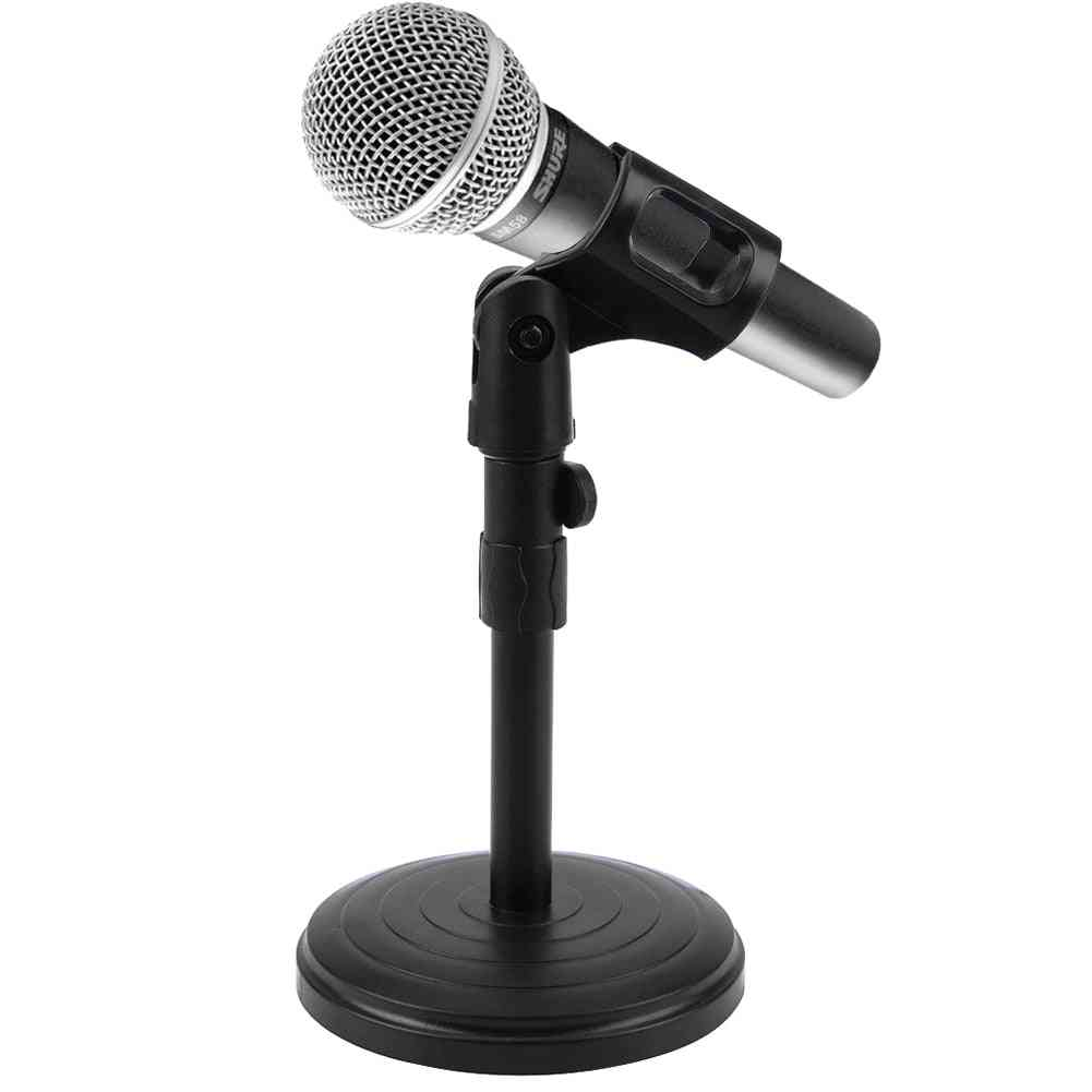 Foldable Desk Table Microphone Table Stand Tripod Adjustable Holder Strong Stable With Clips