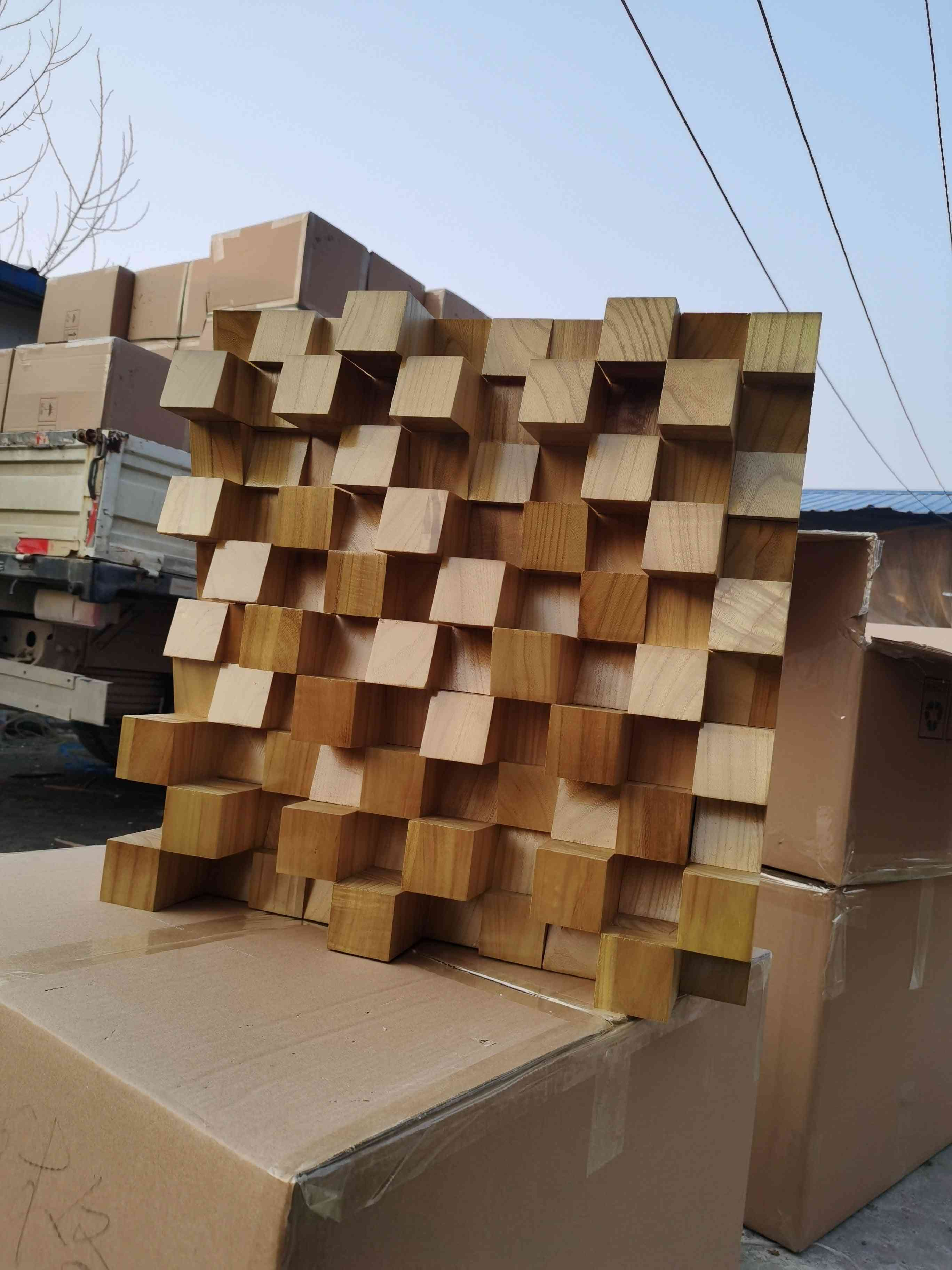 Solid Wood Full-frequency Diffuser Acoustic Secondary Sound Absorption Trap Recording Studio