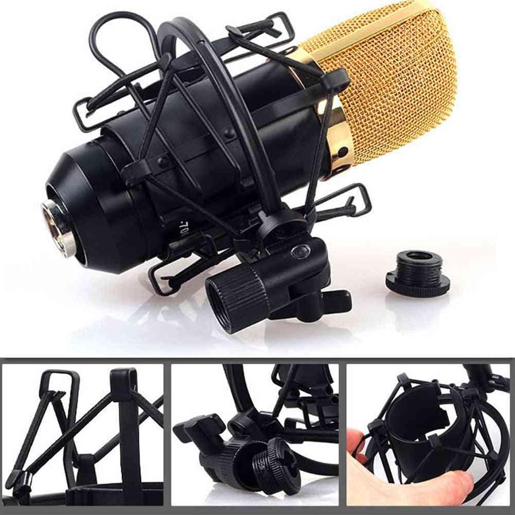 Condenser Adjustable Clip Studio Recording Reduce Noise Spider Broadcast Professional Metal Microphone