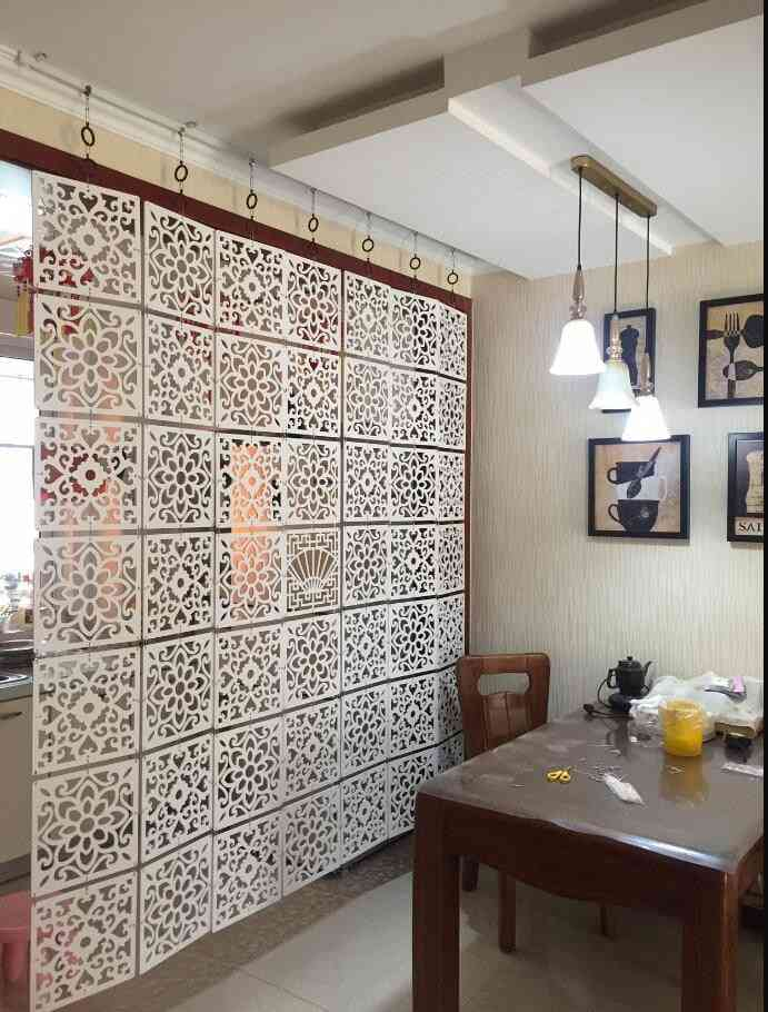 Room Divider Wall Folding Screen Curtain Hanging Screen Partition