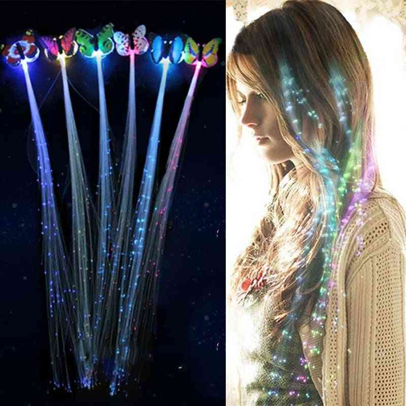 Christmas Led Butterfly Luminous Fiber Optic Wig