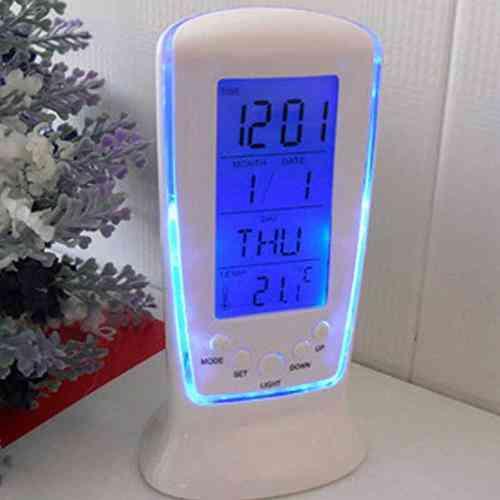 Digital Calendar Temperature Led Digital Alarm Clock