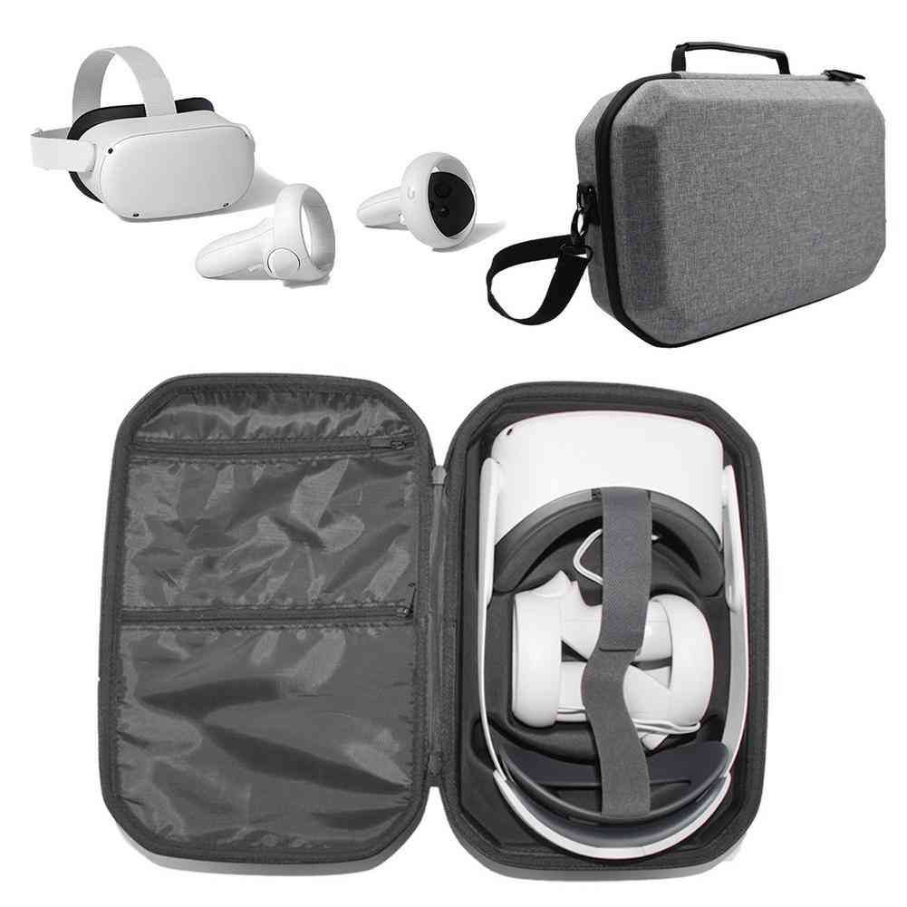 Vr Headset Travel Carrying Protective Case Hard Eva Storage Box Bag Accessory (gray)