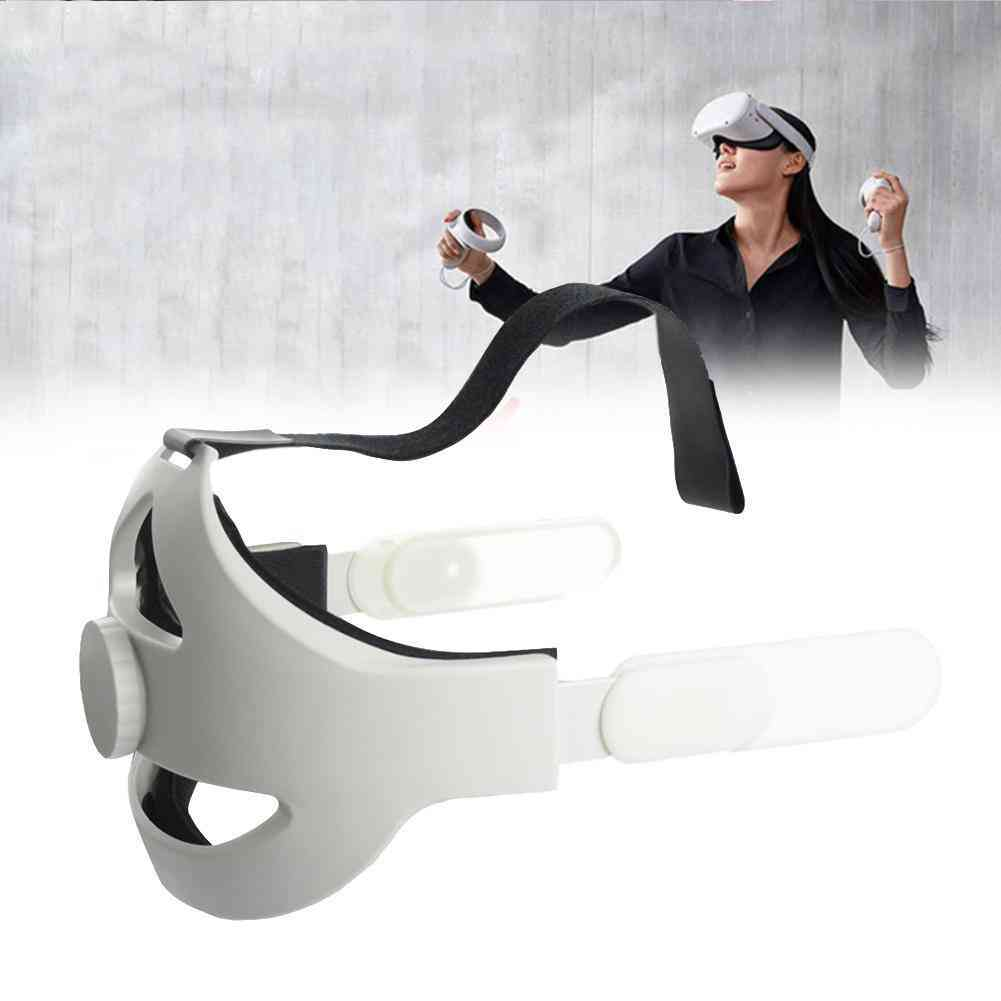 Oculus Quest 2 Head Strap Vr Elite Forcesupport Virtual Reality Supporting (white)