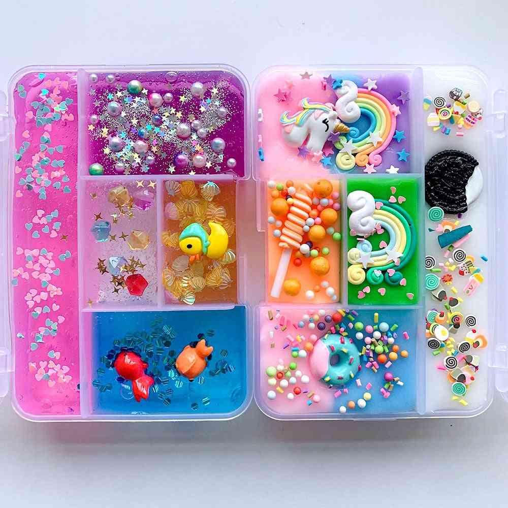 Colorful Mixing- Unicorn Slime, Rainbow Squishy, Anti-stress Foam Ball