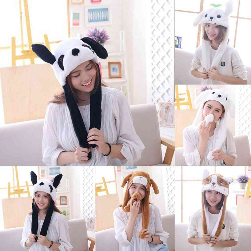 Cute Animal Safety Bunny Moving Ears Hat, Girl Toy
