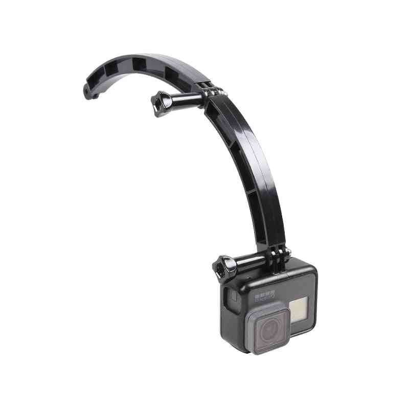 3 Way Mount Helmet Arm Extension Curved Pole Selfie Stick For Gopro Accessories