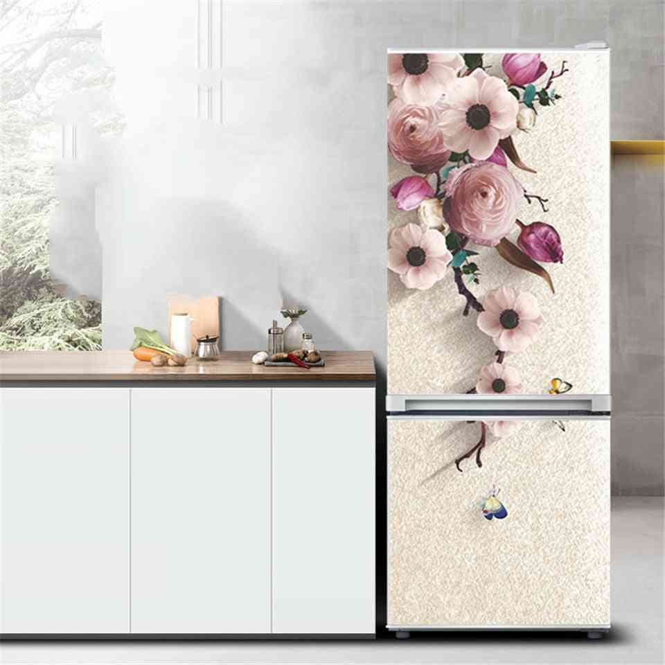 Flower Refrigerator Sticker Pvc Peel And Stick Wallpaper