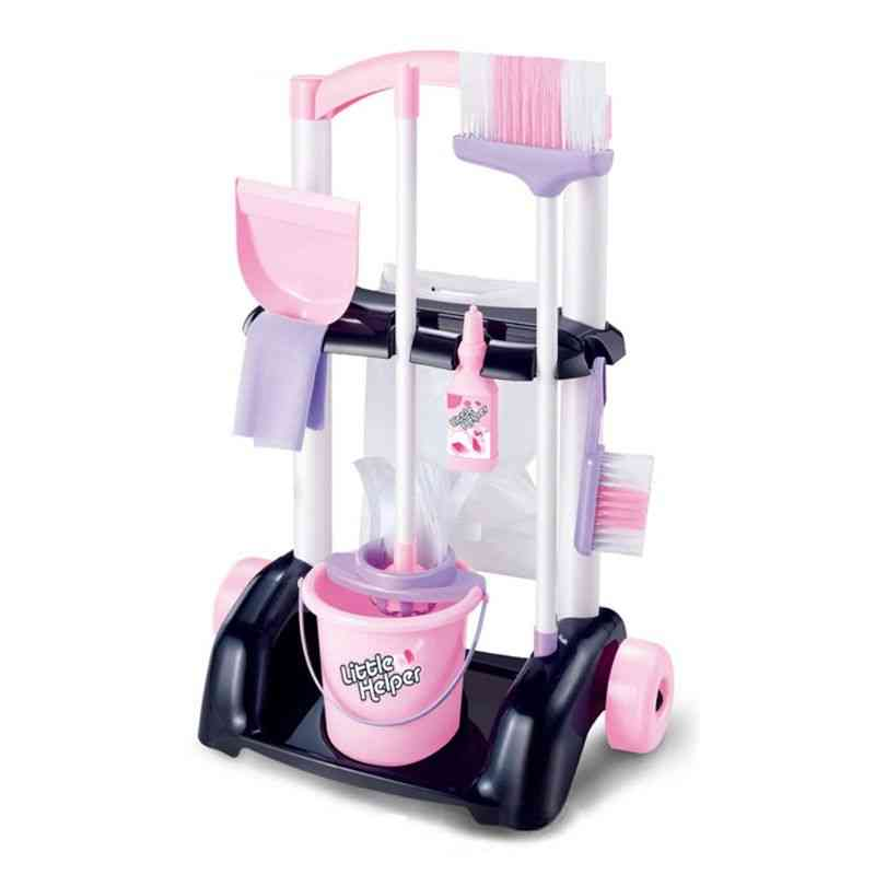 House Cleaning Trolley Set, Kids Pretend Play Toy
