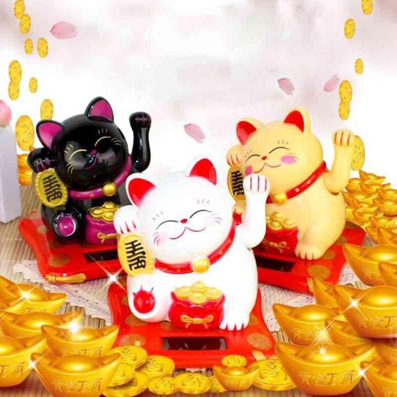 Lucky Wealth Waving Cat, Home Decor Statue