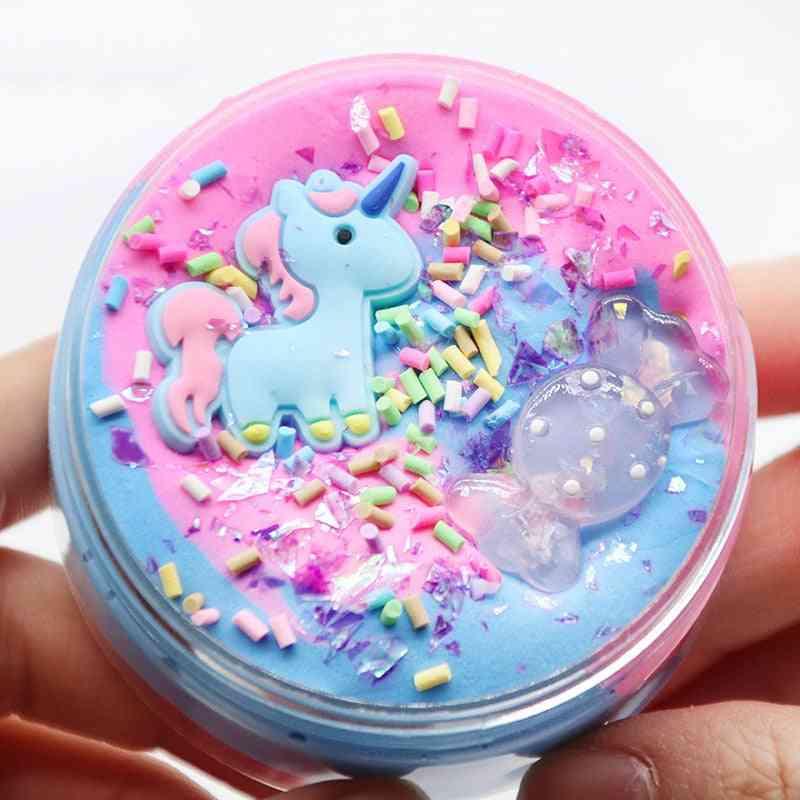 Unicorn Puff Slime Plastic Clay Sand