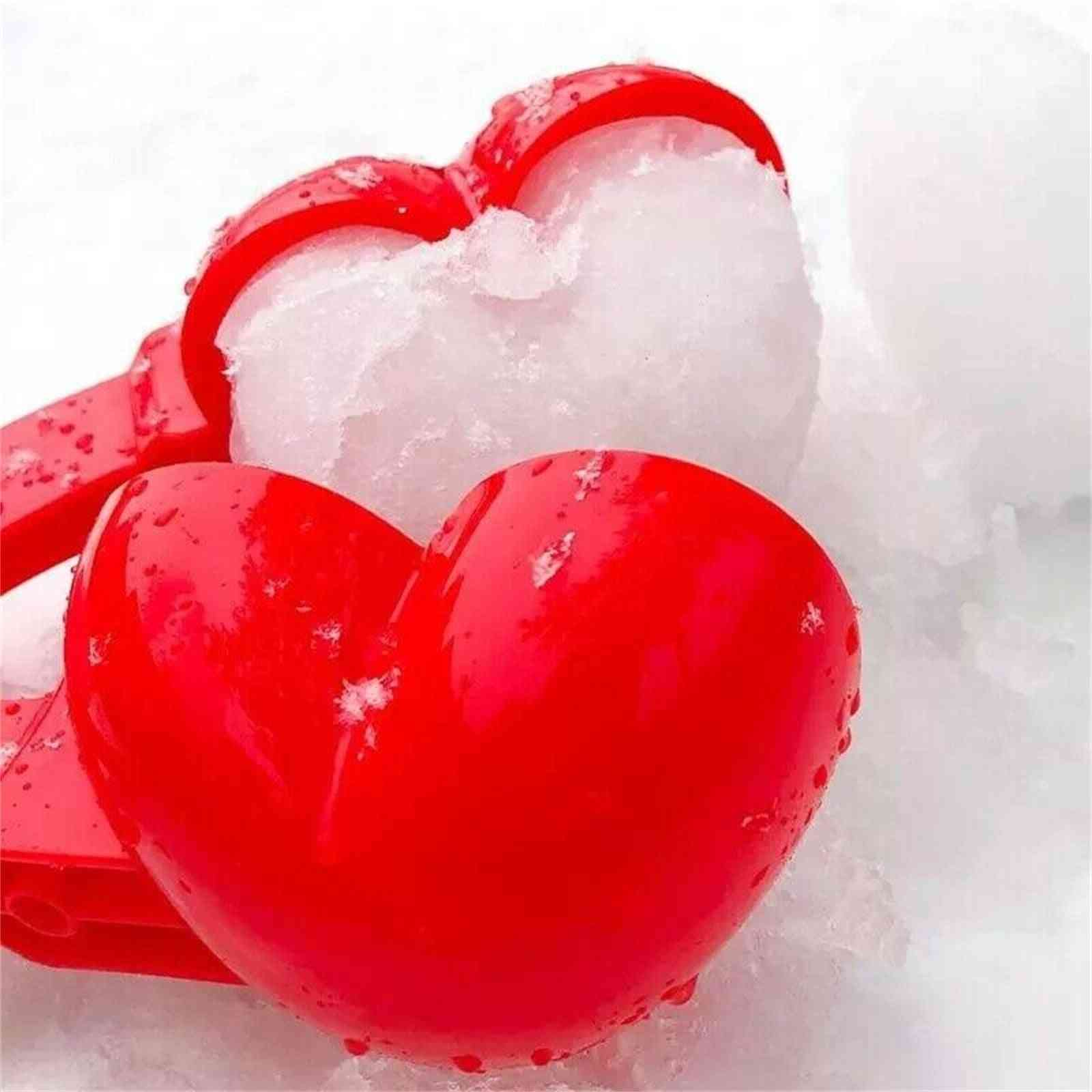 Red Love Heart Shaped Sport Creative Snow Maker Clip