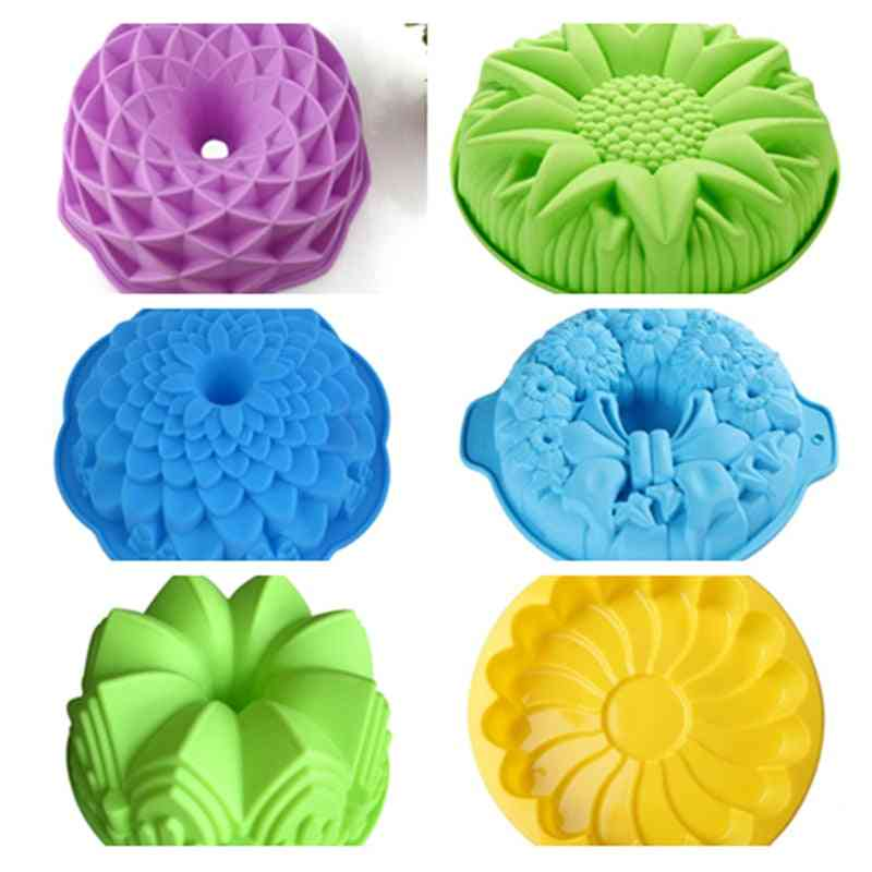 Silicone Big Cake Molds- Flower Crown Shape, Bakeware Baking Tools