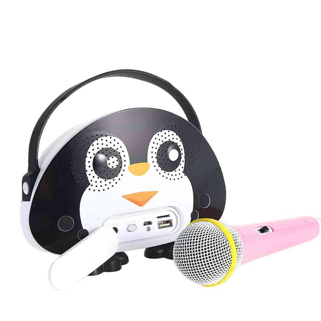 Children Portable Bluetooth Speaker Wireless Soundbar Karaoke With Microphone