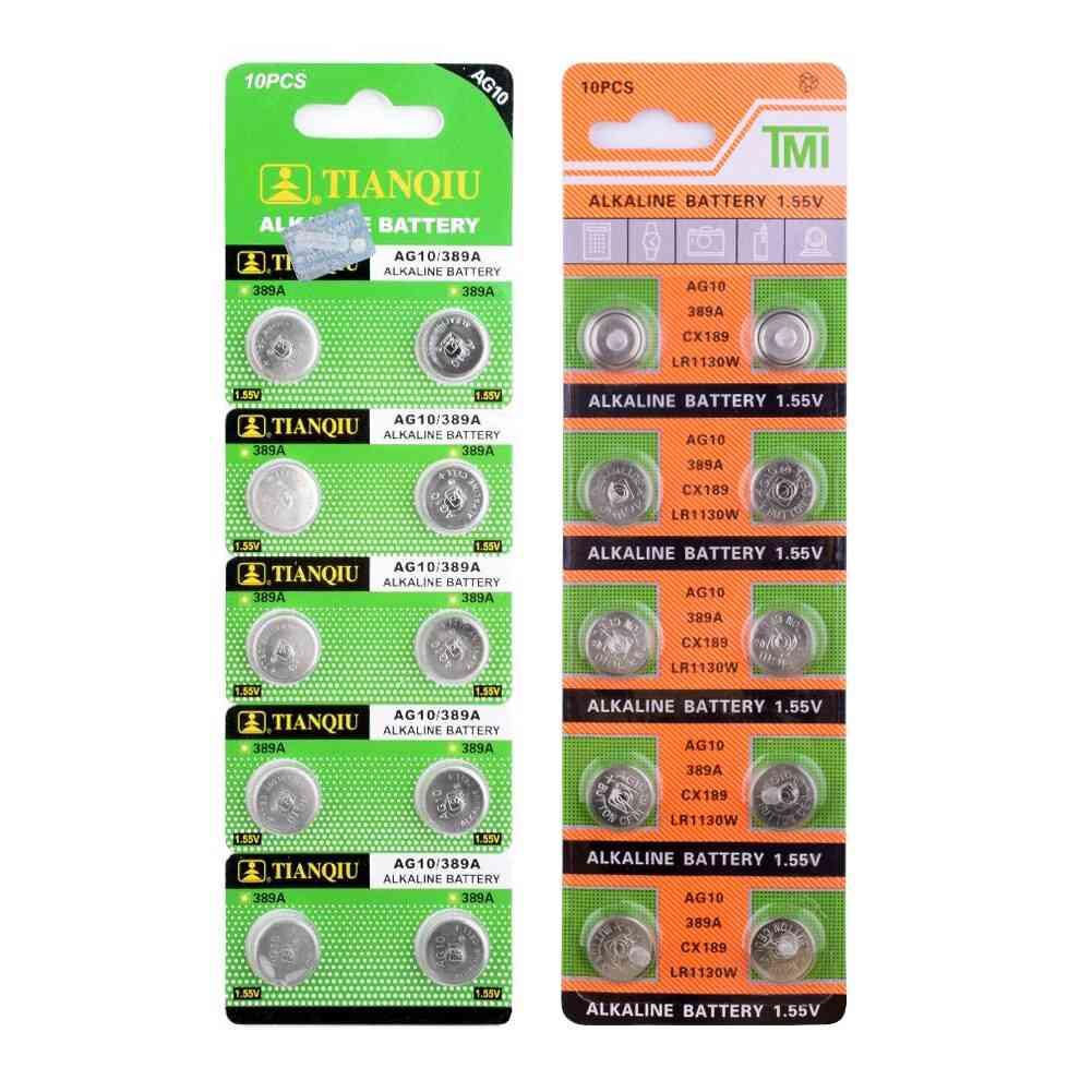 20pcs Ag10 Lr1130 1130 Sr1130 389a Lr54 L1131 389a 1.55v Button Battery